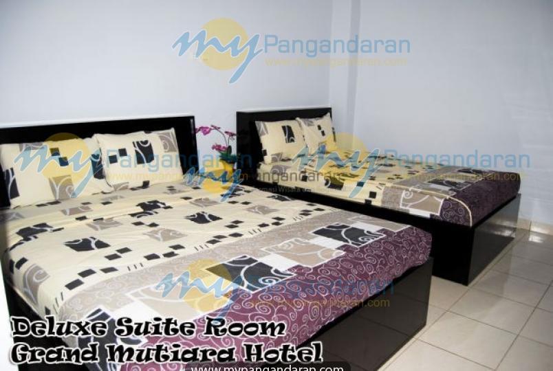 Tampilan Kamar Tidur Grand Mutiara Hotel Pangandaran